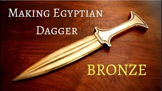 Casting an Egyptian bronze age dagger