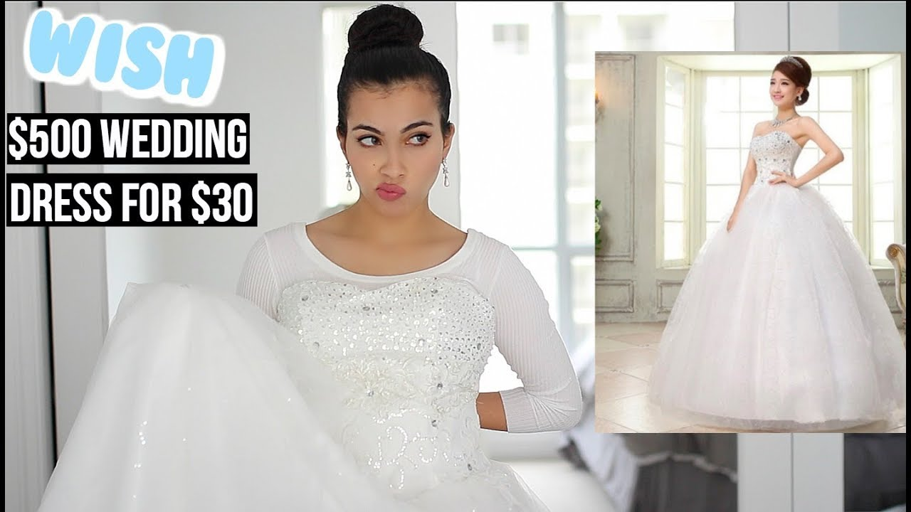I Bought A $30 Wedding Dress On Wish (Original price $500 ...
