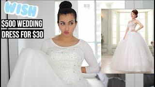 I Bought A $30 Wedding Dress On Wish (Original price $500)