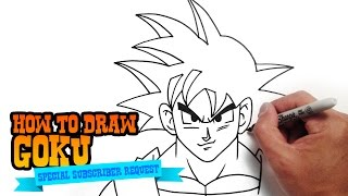 Wie zeichnet man Son Goku aus Dragon Ball - Step by Step Video