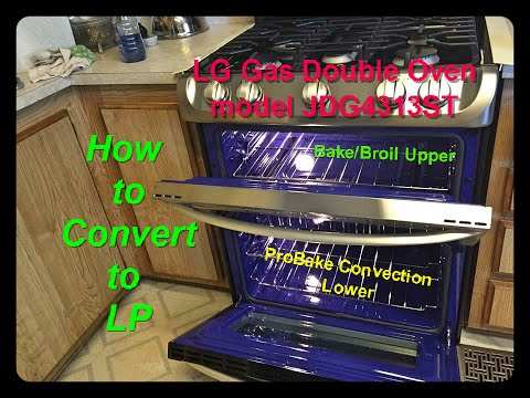 LG Range Model LDG4313ST How to convert to LP