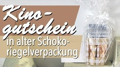 Kreativer Montag 111 - Kinogutschein in alter Schokoriegelverpackung