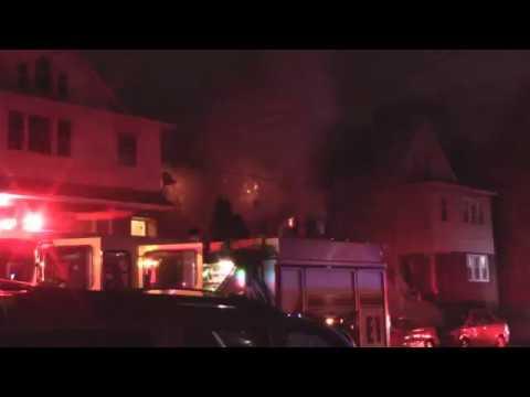 Kearny, Nj Fire Department 3rd Alarm Fire (664 Elm St) 5/27/17