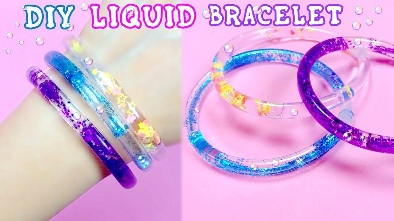 DIY - AMAZING LIQUID GLITTER BRACELETS - YOU WILL LOVE