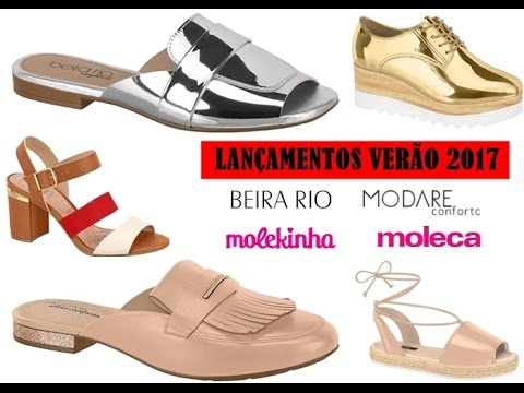 3d60f82f9 Lançamentos de Verão 2017 - Moleca, Beira Rio, Modare e Molekinha ...