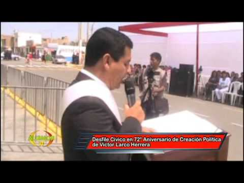 MG. CARLOS VASQUEZ LLAMO ALCALDE DE VICTOR LARCO-TRUJILLO PERU  victor larco
