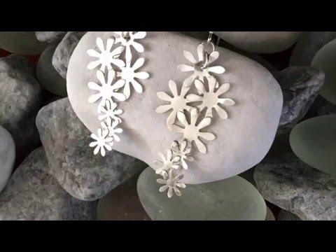 Silver Art Clay Paper Earrings Tutorial
