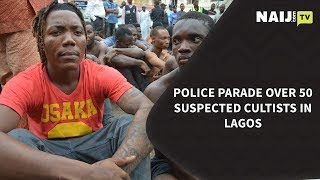 Police Parade Over 50 Suspected Cultists in Lagos | Legit TV