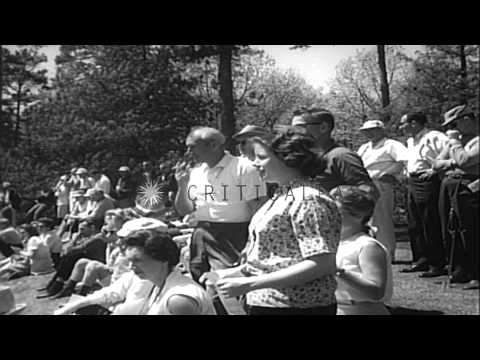 Arnold Daniel Palmer Wins The Masters Golf Tournament In Augusta, Georgia. HD Stock Footage
