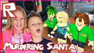 Murdering Santa in Roblox / Playing with Ronald