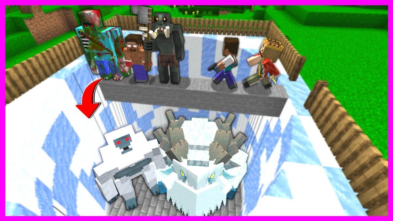 ÖLÜRSEN KAR CANAVARI ÇETESİ ÇUKURUNA DÜŞERSİN! 😱 - Minecraft