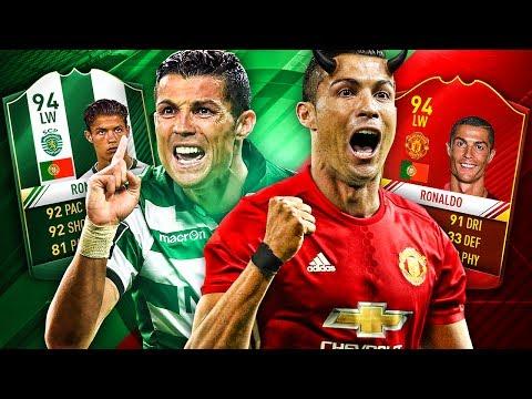 MANCHESTER UNITED RONALDO V SPORTING RONALDO! ULTIMATE RONALDO TRANSFER SQUAD! FIFA 17