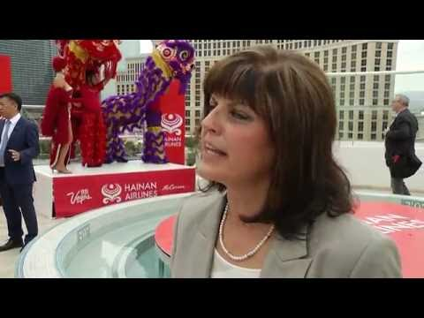 Rosemary Vassiliadis, McCarran International Airport flights from China - Unravel Travel TV