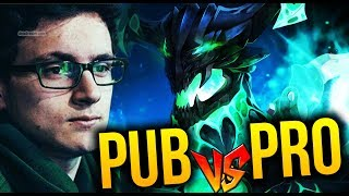 WTF Matching - PRO Player vs PUB Player - Miracle- [Outworld Devourer] Dota 2
