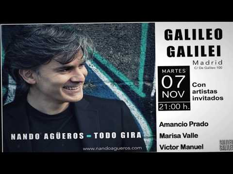 Nando Agüeros Directo sala Galileo Galilei -Onda Occidental Cantabria Radio y TV