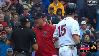 HOU@BOS Gm4: Farrell tossed after arguing Pedroia K