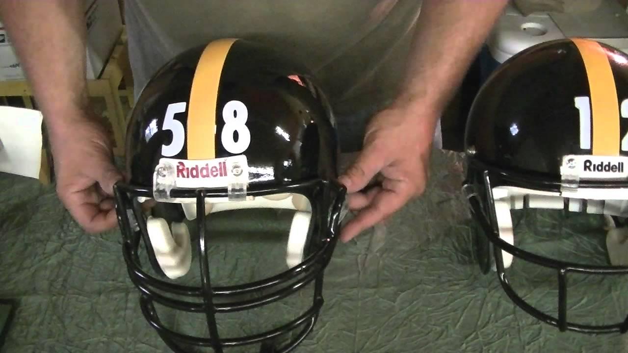 Custom Steeler Helmets Completed - YouTube d196206f3