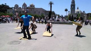 2014 National Tap Dance Day Flash Mob Balboa Park San Diego 1pm