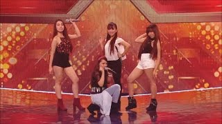 4th Impact S Rendition Of Show Me How You Burlesque At X Factor UK