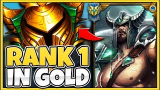 I TOOK MY TRYNDAMERE INTO GOLD FOR THE FIRST TIME! RANK 1 TRYND VS ELO HELL - League of Legends