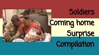 Soldiers Coming home surprise compilation *TISSUE WARNING*