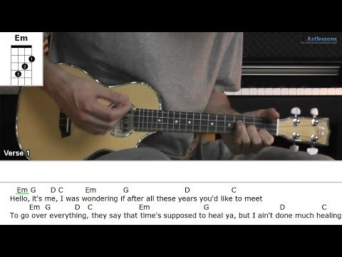 How To Play Hello With Adele (Ukulele Lesson)
