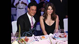 Actress Elizabeth Hurley and her ex husband Arun Nayar and Her son