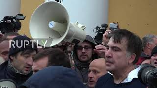 Ukraine: Saakashvili set loose after supporters clash with security