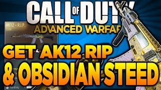 Advanced Warfare - How To Get The AK12 RIP & BAL Obsidian Steed! (Elite Gun Supply Drop Tips)