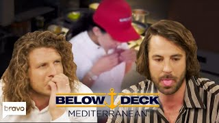 Below Deck Crew React To Chef Licking Raw Steaks | Below Deck Med After Show