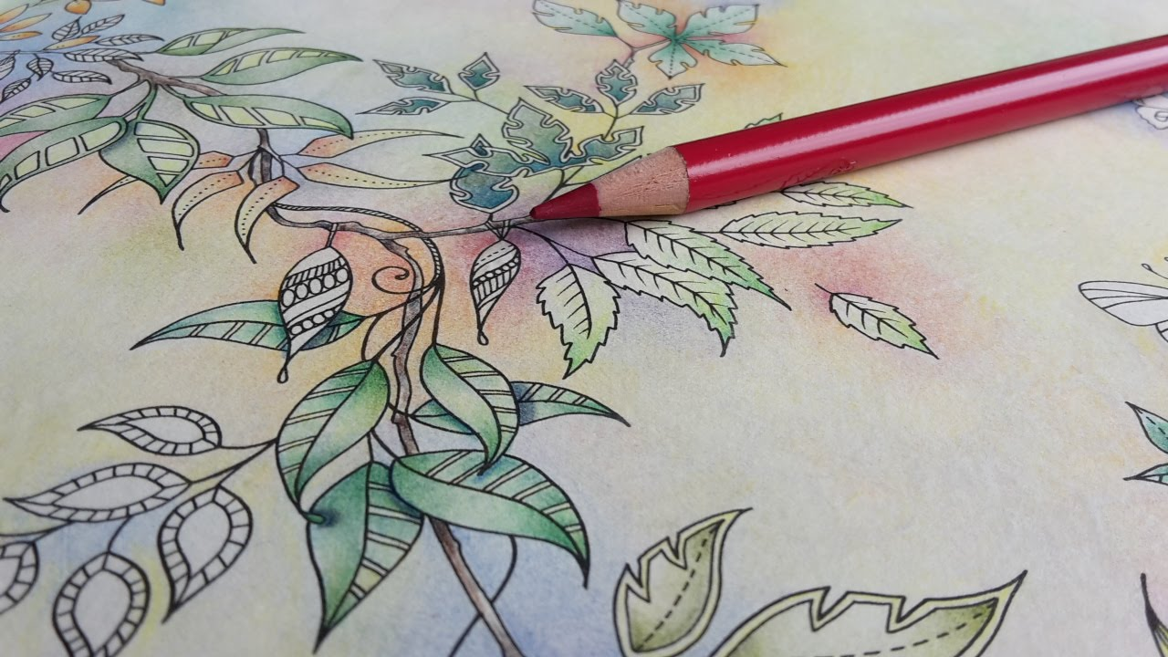 Secret Garden Coloring Book Background Colouring A Garland In Pastels