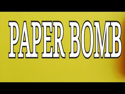 how to make Paper bomb / paper popper | easy paper craft - paper origami