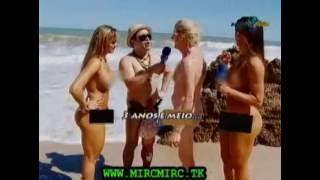 Pânico na TV - 04.10.2009 - Praia de nudismo com Juju, Nicole e Christian Pior