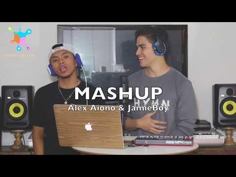 Alex Aiono & JamieBoy - Young Dumb & Broke, Bank Account, Bodak Yellow Mash Up | Lyrics Video