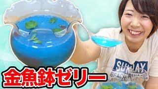 【巨大】金魚鉢まるごと巨大ゼリー作ってみた! thumbnail