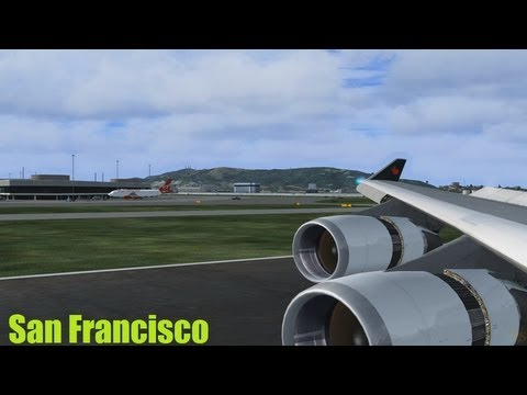 Flight Simulator X [HD] San Francisco California / DX10 / Boeing 747-400 Air Canada Landing
