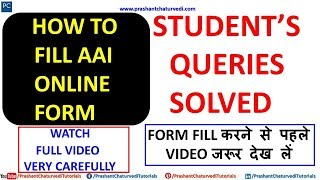 HOW TO FILL #AAI ONLINE APPLICATION FORM + STUDENT'S QUERIES