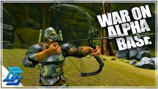 RAID ON THE ALPHA BASE , HUGE BATTLE! - Ark Survival Evolved -…