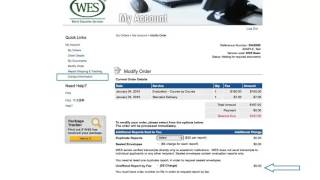 How to Modify Your Order for a WES Credential Evaluation