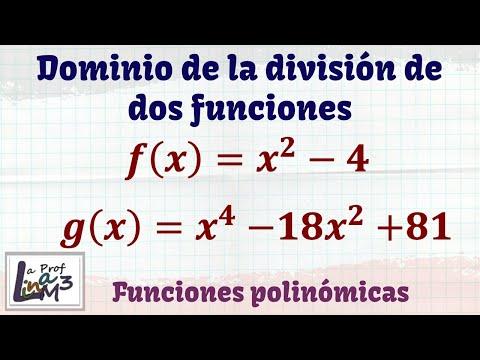 Operaciones entre funciones | Dominio de funciones | La Prof Lina M3
