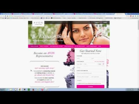 Converting Avon Website Visitors into Customers and Representatives