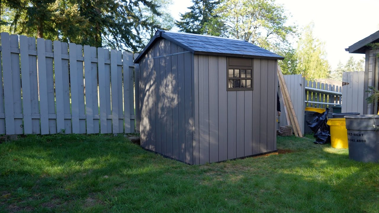 Keter oakland shed assembly time lapse built right youtube for Caseta jardin pvc