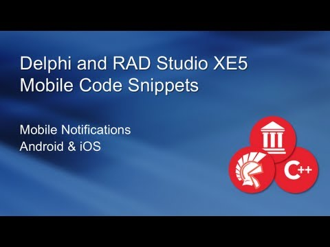 Mobile Notifications with Delphi XE5