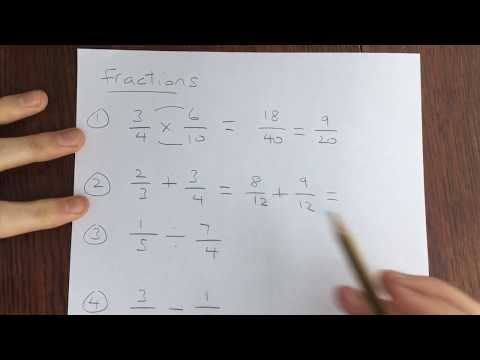 GCSE maths - Fractions (the four operations)