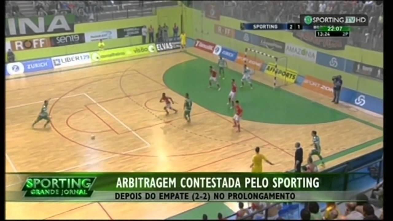 Futsal :: Play-off Final 4º Jogo :: Sporting - 2 x Benfica - 2 (2-3 desempate penalidades) de 2014/2015