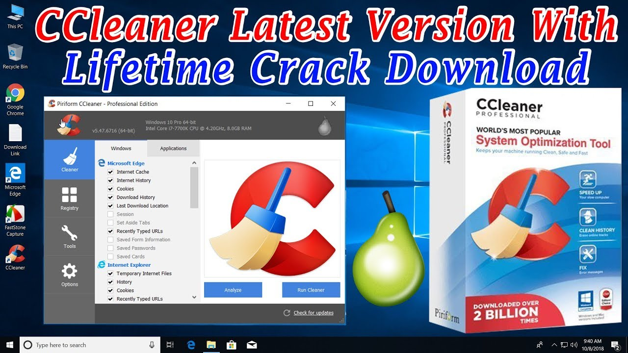 Ccleaner full version free download with crack.