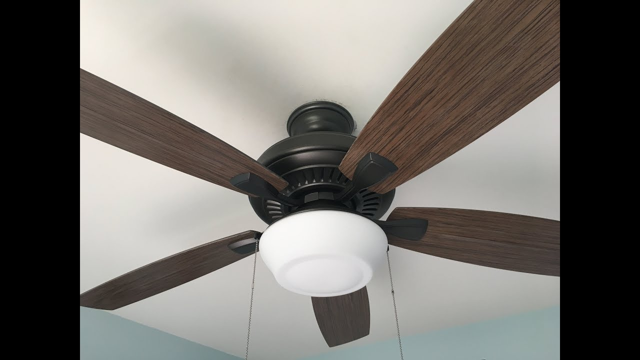 Hampton Bay Gazebo II ceiling fan - YouTube