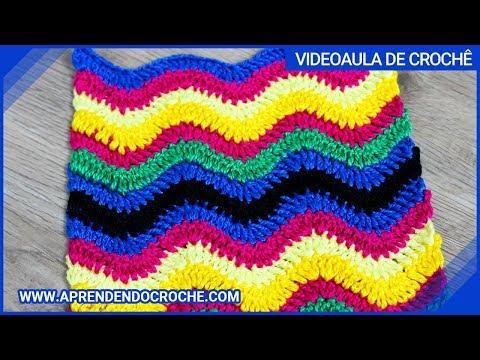 Ponto de Crochê Chevron - Aprendendo Croche - YouTube 853d4edd3a5