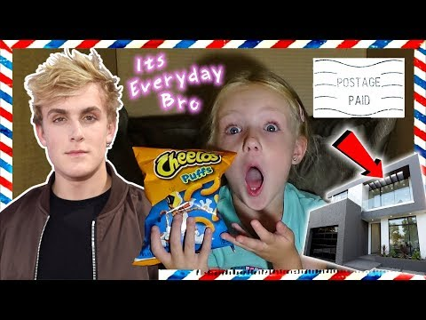 I Mailed Myself to Jake Paul *IT WORKED* NEW TEAM 10 House Surprise Logan (Skit)