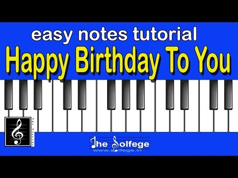 Happy Birthday to You|Notes Tutorial|The Solfege India
